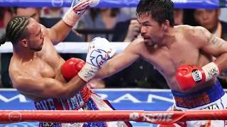 Manny Pacquiao vs Keith Thurman - 1st rd knock down and NBA players & Celebrities twitter reaction