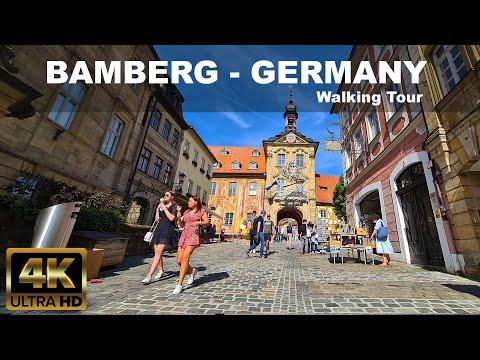 BAMBERG - GERMANY - 4K Walking Tour - UNESCO WORLD HERITAGE