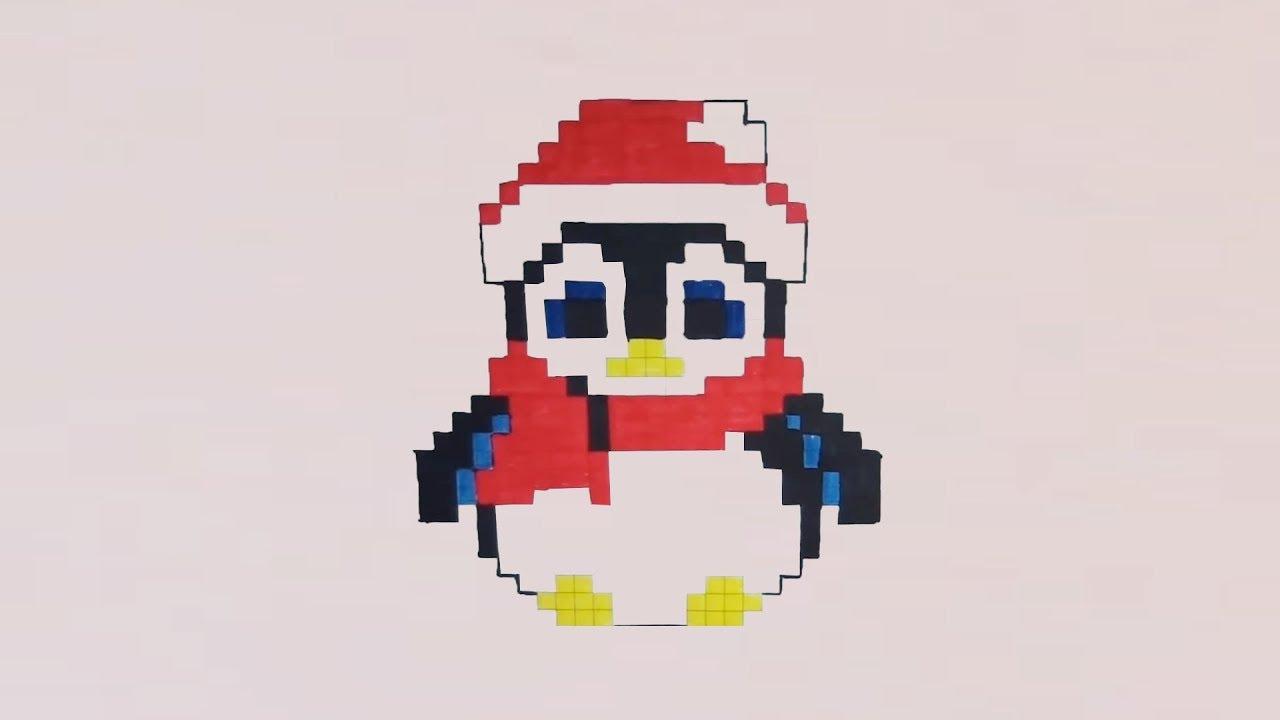 Comment Dessiner Un Pingouin De Noël Pixel Art