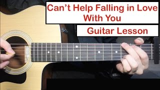 Can't Help Falling In Love - Elvis/TOP   Guitar Lesson (Tutorial) How to play Chords