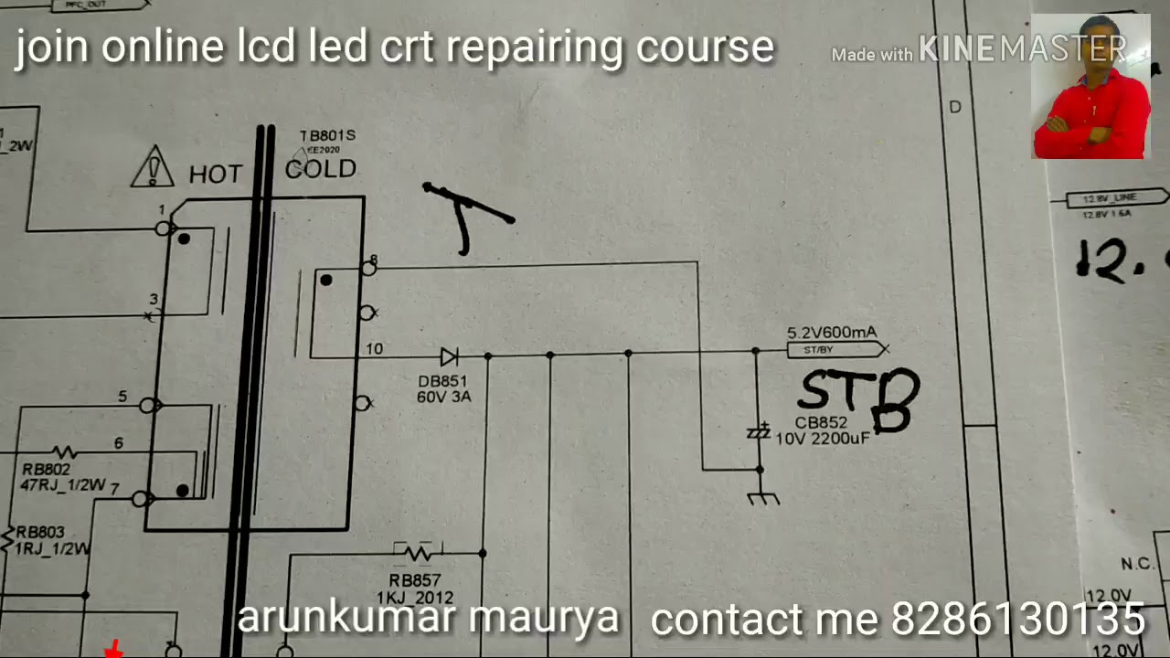 How To Repair Lcd Led Power Supply Easy Way With Schematic Circuit Diagram Part 2 Explanation
