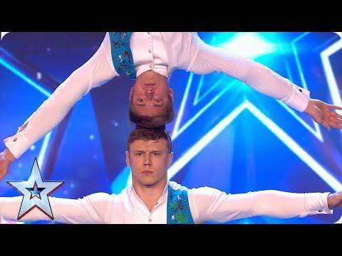 Acrobatic duo Duo Kalutskih/Chetverkin take on INCREDIBLE balancing act | Auditions | BGMT 2019