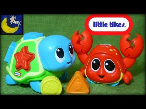 Little Tikes Toys! Little Ocean Explorers Catch Me Crabbie and Crawl N' Pop Turtle!