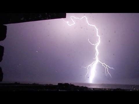 Rain storm and Thunder Sounds in a lightning storm - Sleep Music
