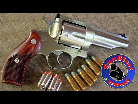Shooting the Ruger Redhawk 45 ACP/45 Colt Double-Action Revolver - Gunblast.com