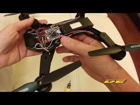 VISUO XS809W - Consertar Slot Do Cartão De Memória Do Drone - Fix Slot Memory Card