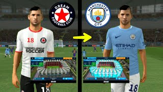 How To Create Manchester City Team ★ Kits Logo Players & Change Stadium ★ Dream League Soccer 2018