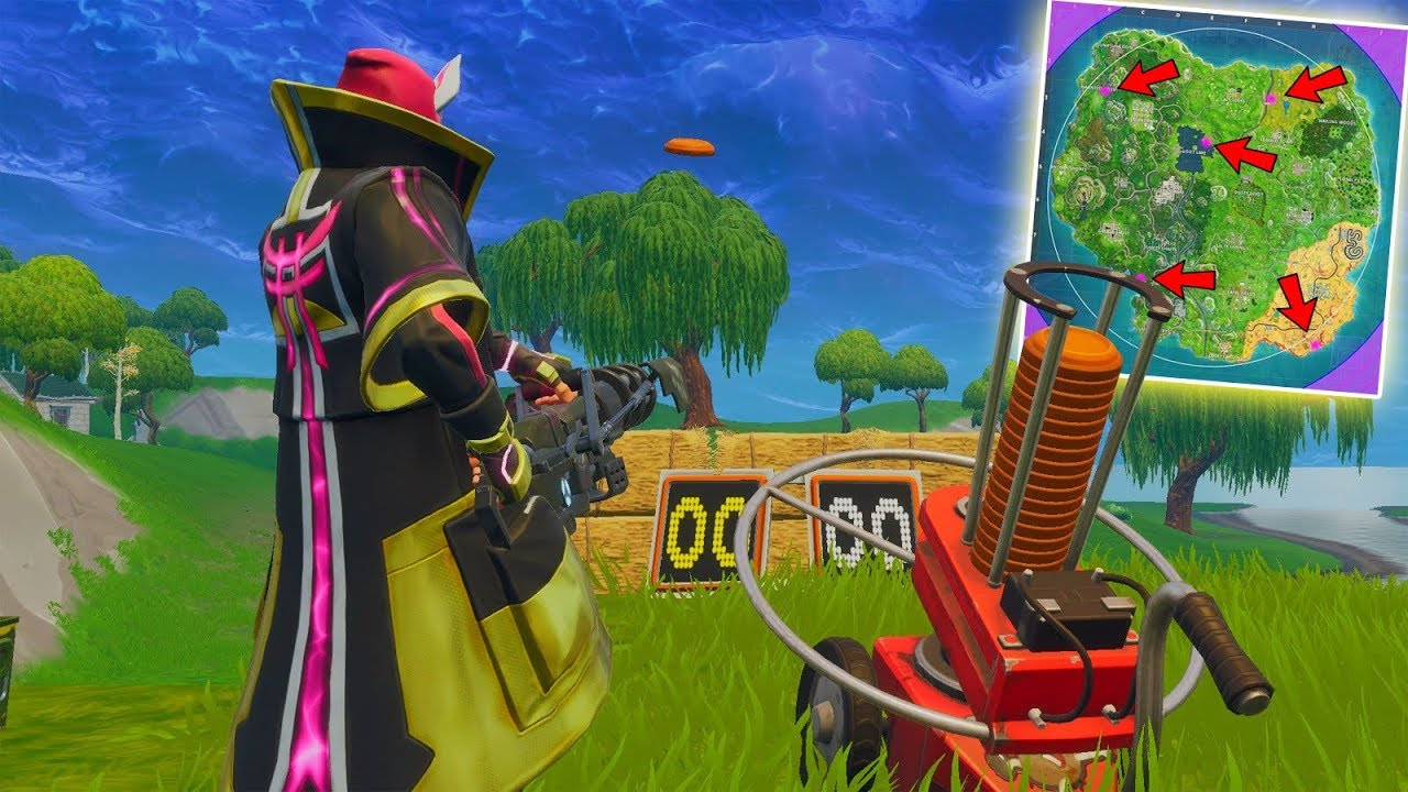 Shoot A Clay Pigeon In Different Locations Fortnite Week 3 Season 5