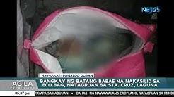 Bangkay ng batang babae natagpuan na nakasilid sa eco bag sa Sta. Cruz, Laguna