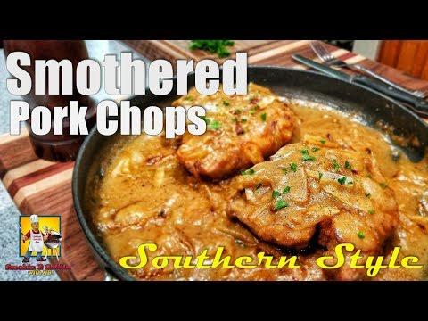 Southern Smothered Pork Chops And Gravy | #SoulFoodSunday