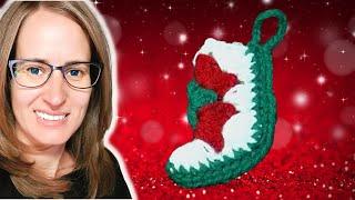 Mini Christmas Stocking Crochet Tutorial