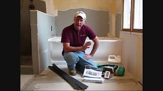 using edge strip kits to install warmlyyours twin radiant electric floor heat system