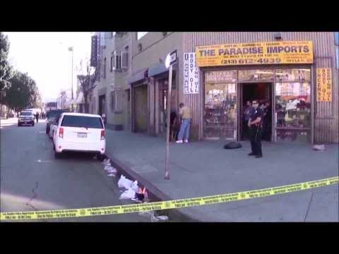LAPD Crime Scene Investigation In Downtown Los Angeles