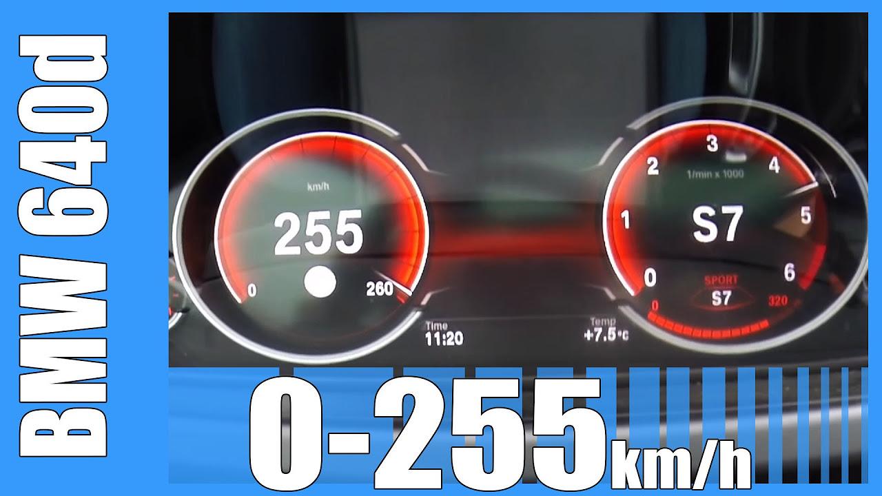2016 BMW 6 Series Gran Coupe 640d 313 HP Acceleration 0-255 km/h Beschleunigung Autobahn
