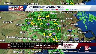 Tornado warning issued for part of Worcester County