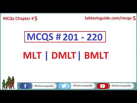 201 - 220 MCQ's and their Answers  For Laboratory Technicians and Technologists