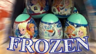 Disney Frozen Anna and Elsa Princess of Arendelle 10 Kinder Surprise Eggs