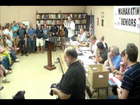 Greg Karpinski, President Of Wurtsboro Board Of Trade, Speaks At 7/17/12 Mamakating Town Meeting