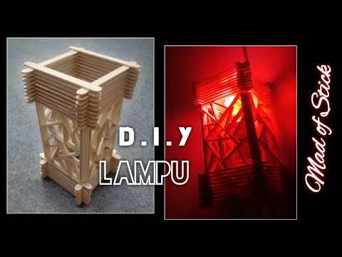 D I Y Membuat Lampu Tidur Dari Stik Aiskrim How To Make A Night Lamp With Ice Cream Stick Youtube