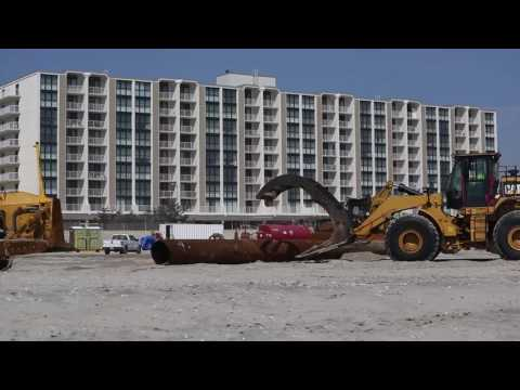 By the Sea   Cat® Products Work to Restore New Jersey Shoreline