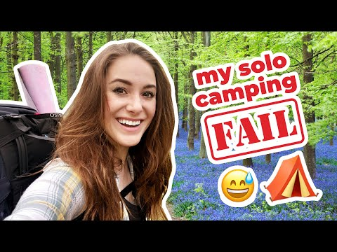Solo Camping For The FIRST Time! 🏕 Surrey Hills UK Hike