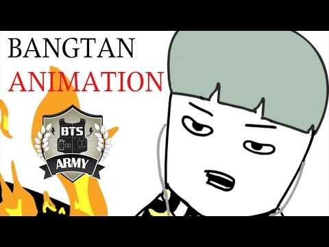 BTS ANIMATION: BTS TRY NOT TO LAUGH CHALLENGE
