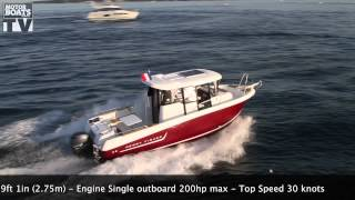 Jeanneau Merry Fisher 755 Marlin on test with MBM