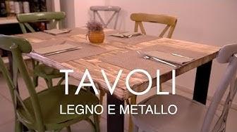DUE TAVOLI LEGNO E METALLO - Industrial design - falegnameria - carpenteria metallica