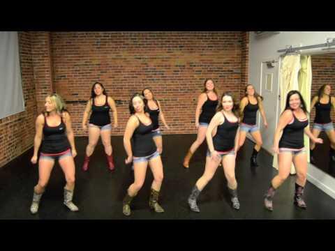 Burnin' It Down Line Dance - Demo