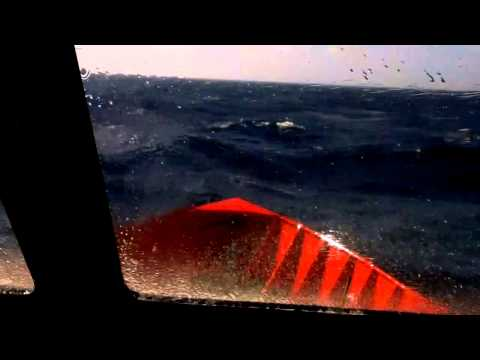 Crew boat in rough seas