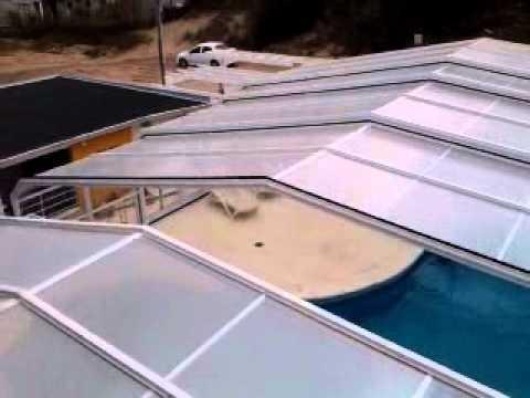 Techos corredizos para piscinas y piletas modelo atuel for Techos para albercas