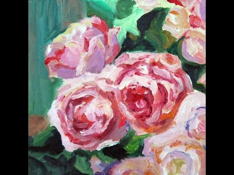 How To Paint Flowers With Oil Paint On Canvas