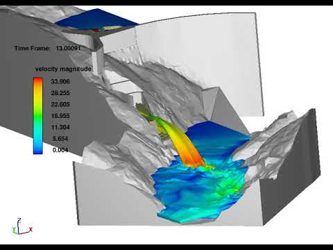 3D numerical modeling of flow. Complementary spillway of Salamonde.