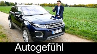 Range Rover Evoque Facelift FULL REVIEW test driven MY2016 - Autogefühl