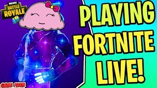 MIMI ICE CREAM PLAYING FORTNITE LIVE WITH FRIENDS!