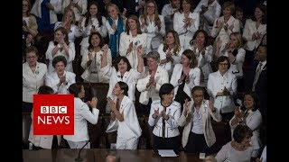 State of the Union: Democratic women cheer in Trump speech - BBC News