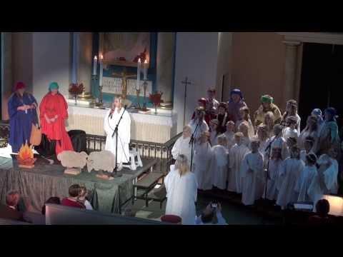"Koret Sifa fremfører ""Sangen om Maria"" i Frelserens kirke, Farsund, 24.12.13"