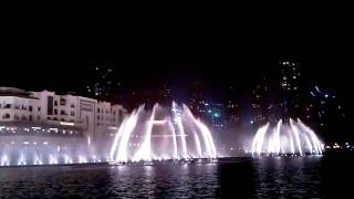 Dubai Fountain - The Prayer - Andrea Bocelli (05.03.2011)