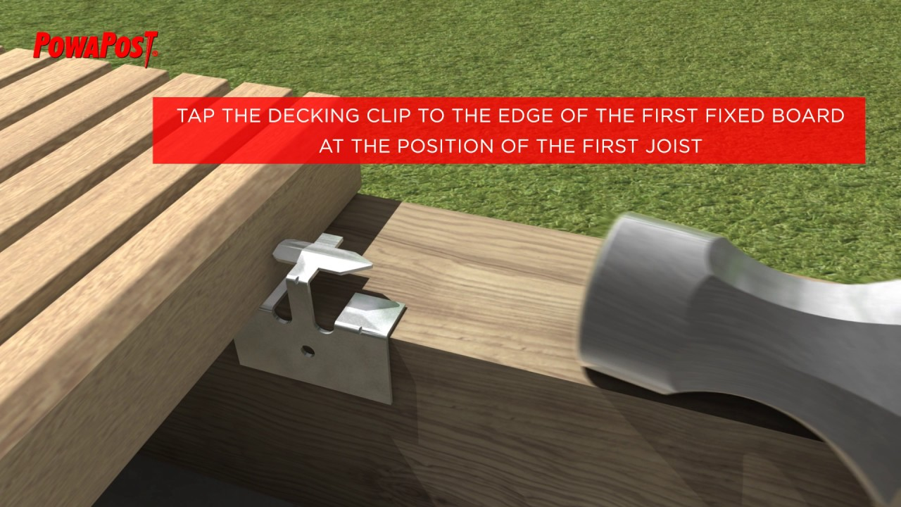 Decking clips