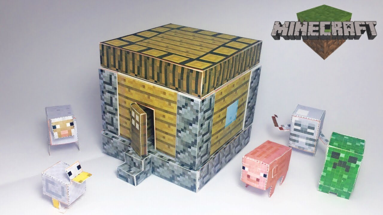 how to make a minecraft house out of paper