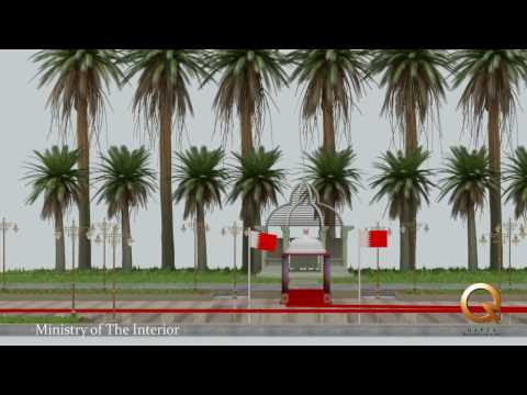 LANDSCAPE PLAZA For ministury of interior Bahrain By Qafza for 3D