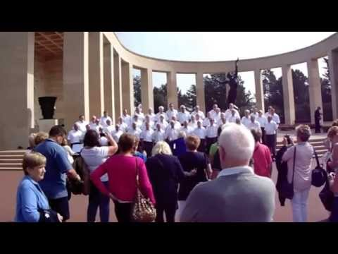 """Welsh Male Voice Choir Performs """"Calon Lan"""" at The American MilitaryCemetery Normandy 13 Sept 2014"""