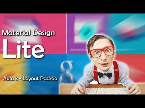 Material Design Lite - Layout Padrão #03