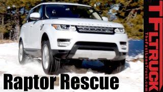 Raptor Rescue: 2016 Range Rover Sport Gold Mine Hill Snowy Misadventure