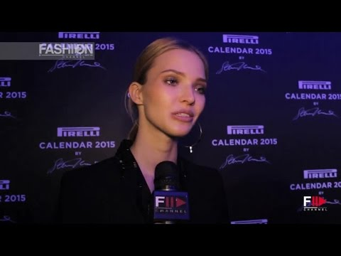SASHA LUSS Interview PIRELLI CALENDAR 2015 by Fashion Channel