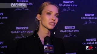 SASHA LUSS Interview PIRELLI CALENDAR 2015 by Fashion Channel