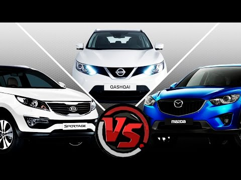 Mazda CX 5 VS Nissan Qashqai VS KIA Sportage