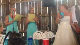 Taylor Swift Love Story Cover Maid Of Honor Speech Holmstrom/hoff Wedding