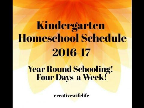UPDATED Kindergarten Homeschool Schedule! 2016-17 - YouTube
