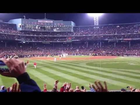 Red Sox win the 2013 World Series at Fenway Park- the entire top of the 9th